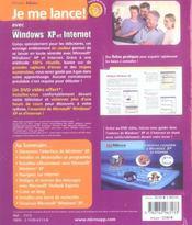 Je me lance avec windows xp et internet - 4ème de couverture - Format classique