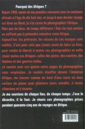 Depardon ; afriques - 4ème de couverture - Format classique