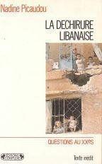La dechirure libanaise - Couverture - Format classique