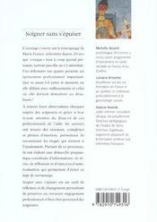 Soigner Sans S'Epuiser - 4ème de couverture - Format classique