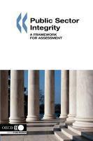 Public sector integrity : a framework for assessment - Couverture - Format classique