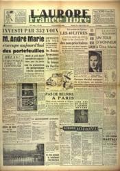 Aurore France Libre (L') N°1202 du 25/07/1948 - Couverture - Format classique