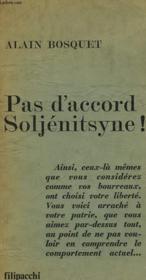 Pas D'Accord Soljenitsyne ! Contre-Courant N°1. - Couverture - Format classique