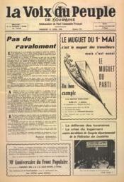 Voix Du Peuple De Touraine (La) N°1291 du 24/04/1966 - Couverture - Format classique