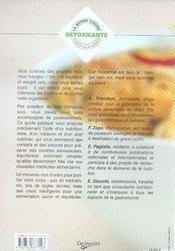 La bonne cuisine détoxicante - 4ème de couverture - Format classique