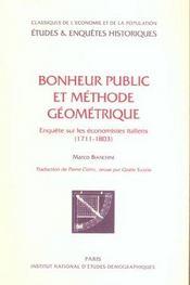 Bonheur public et méthode géométrique - Intérieur - Format classique