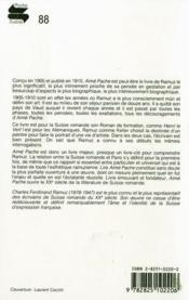 Aimé Pache, peintre vaudois - 4ème de couverture - Format classique