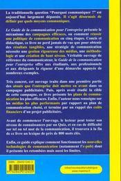 Guide De La Communication Pour L'Entreprise ; Publicite Relations Presse Internet Marketing - 4ème de couverture - Format classique