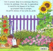 Albertine au jardin - 4ème de couverture - Format classique