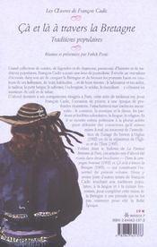 Ca Et La A Travers La Bretagne - 4ème de couverture - Format classique