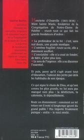 Mere Sainte Marie : Henriette Le Forestier D'Osseville - Une Educatrice Pour Aujourd'Hui - 4ème de couverture - Format classique