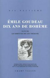 Dix Ans De Boheme - Intérieur - Format classique