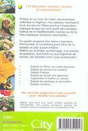 Salades fraicheur - 4ème de couverture - Format classique
