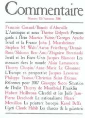 Revue Commentaire N.115 - Couverture - Format classique