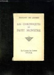 Les Chroniques Du Petit Monstre. - Couverture - Format classique