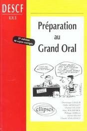 Vente livre :  Preparation au grand oral descf uv n 3 - 2e edition  - Bousseyrol Lafleur - Bousseyrol/Lafleur