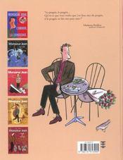 Monsieur jean t.5 ; comme s'il en pleuvait - 4ème de couverture - Format classique