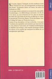 L'Histoire De L'Art En France Genese D'Une Discipline Universitaire - 4ème de couverture - Format classique