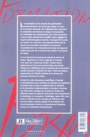 La prévention cardiovasculaire - 4ème de couverture - Format classique