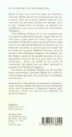 Madame perfecta - 4ème de couverture - Format classique