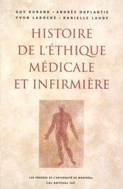 Histoire de l'éthique médicale et infirmière - Intérieur - Format classique