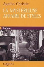 La Mysterieuse Affaire De Styles - Couverture - Format classique