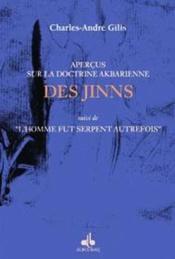 Apercus Sur La Doctrine Akbarienne Des Jinns - Couverture - Format classique