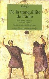 De La Tranquillite De L'Ame (1ere Ed) - Intérieur - Format classique