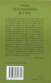 De La Tranquillite De L'Ame (1ere Ed) - 4ème de couverture - Format classique