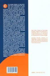 Percevoir, S'Orienter Et Agir Dans L'Espace - 4ème de couverture - Format classique