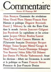 Revue Commentaire N.117 - Intérieur - Format classique