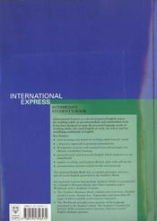 International Express. Intermediate Student's Book - 4ème de couverture - Format classique