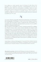 Internet Geographie D'Un Reseau - 4ème de couverture - Format classique