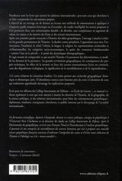 Géopolitique ; constantes et changements dans l'histoire (3e édition) - 4ème de couverture - Format classique
