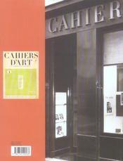 Cahiers D'Art Musee Zervos A Vezelay - 4ème de couverture - Format classique