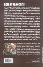 Noir et francais - 4ème de couverture - Format classique