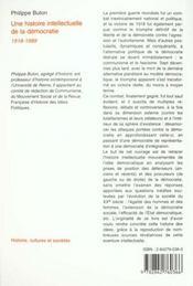 Une histoire intellectuelle de la démocratie - 4ème de couverture - Format classique