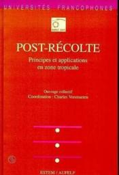Post-Recolte - Principes Et Applications - Couverture - Format classique