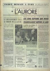 Aurore (L') N°10114 du 23/03/1977 - Couverture - Format classique
