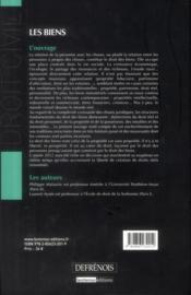 Droit civil ; les biens (5e édition) - 4ème de couverture - Format classique