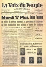 Voix Du Peuple De Touraine (La) N°1294 du 15/05/1966 - Couverture - Format classique