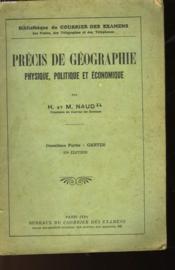 Precis De Geographie Physique, Politique Et Economique - 2° Partie Cartes - Couverture - Format classique