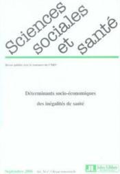 Revue Sciences Sociales Et Sante N.24-3 ; Déterminants Socio-Economiques Des Inégalités De Santé - Couverture - Format classique