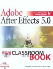 Adobe. After Effects 5.0 - Intérieur - Format classique