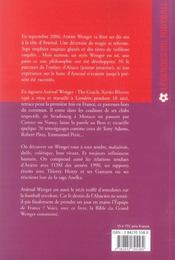 Arsenal wenger, the coach - 4ème de couverture - Format classique