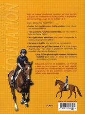 Les fondamentaux de l'équitation ; galops 1 à 4, programme officiel detaillé et 110 questions-réponses - 4ème de couverture - Format classique