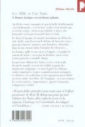 Les mille et une nuits t.1 ; dames insignes et serviteurs galants - 4ème de couverture - Format classique