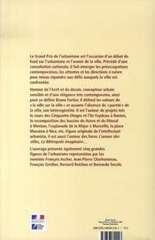 Bruno fortier, grand prix de l'urbanisme 2002 - 4ème de couverture - Format classique