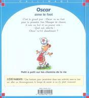 Oscar Aime Le Foot - 4ème de couverture - Format classique