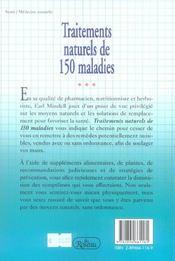 Traitements De 150 Maladies - 4ème de couverture - Format classique